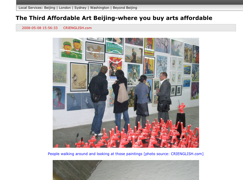 Affordable Art Fair interview 2008