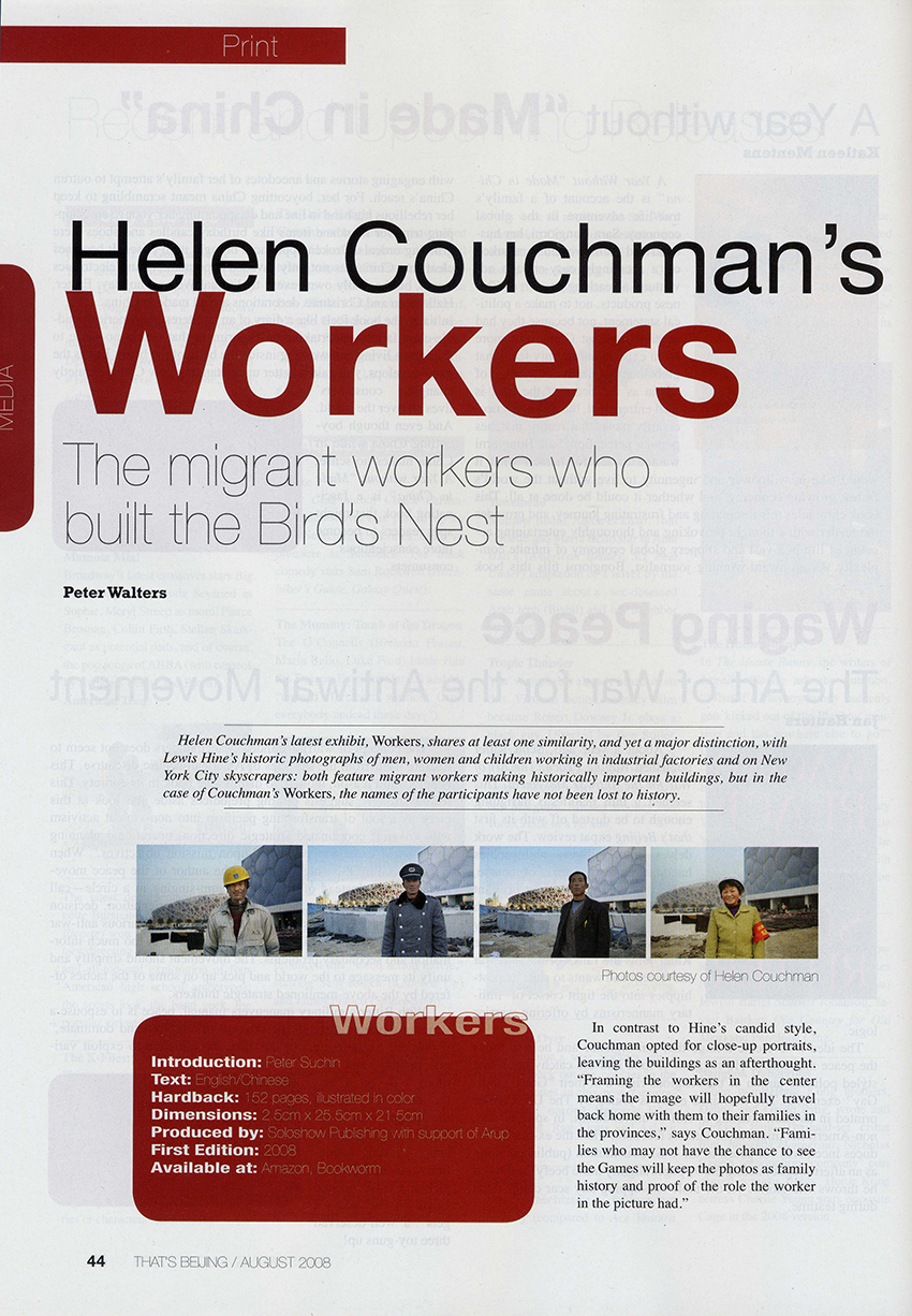 Workers review Helen Couchman