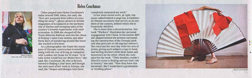 NY Times cutting, 10th Jan 2010. web