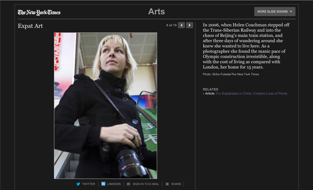 New York Times, Slideshow, Helen Couchman