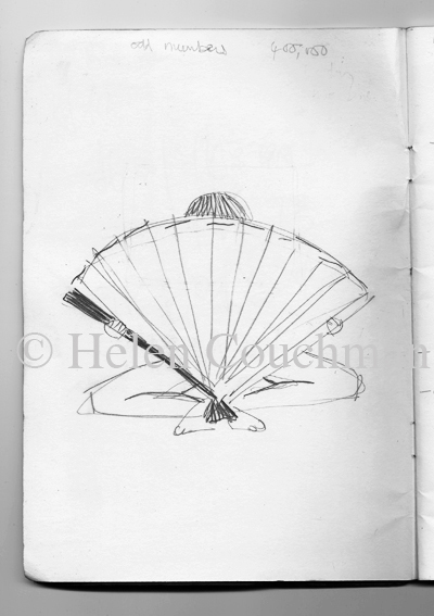 First drawing for 'Untitled (Collecting and Dropping), 2007. copyright Helen Couchman c