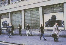 Preface installation, Charing Cross Road, London 1997.