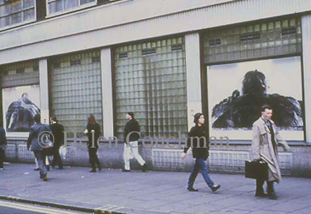 Preface installation, Charing Cross Road, London 1997.