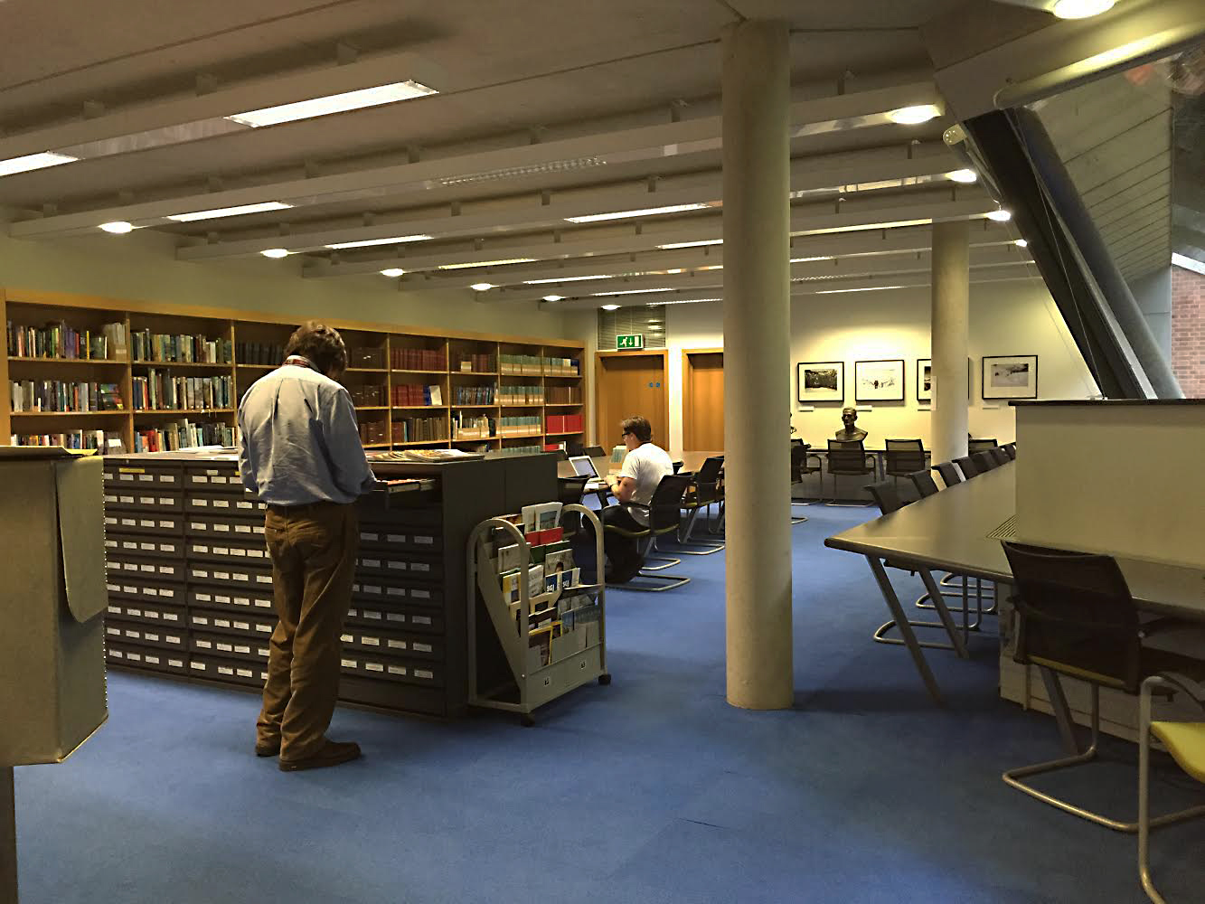 Afternoon researching in the library at the Royal Geographical Society