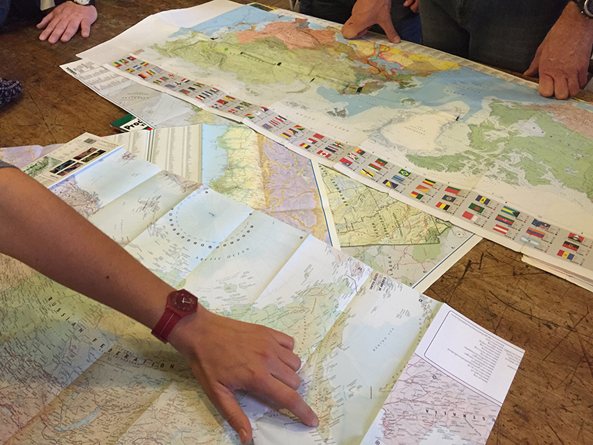 Planning adventures, mapping journeys. Map inspiration, , The Royal Geographical Society, London, copyright Helen Couchman