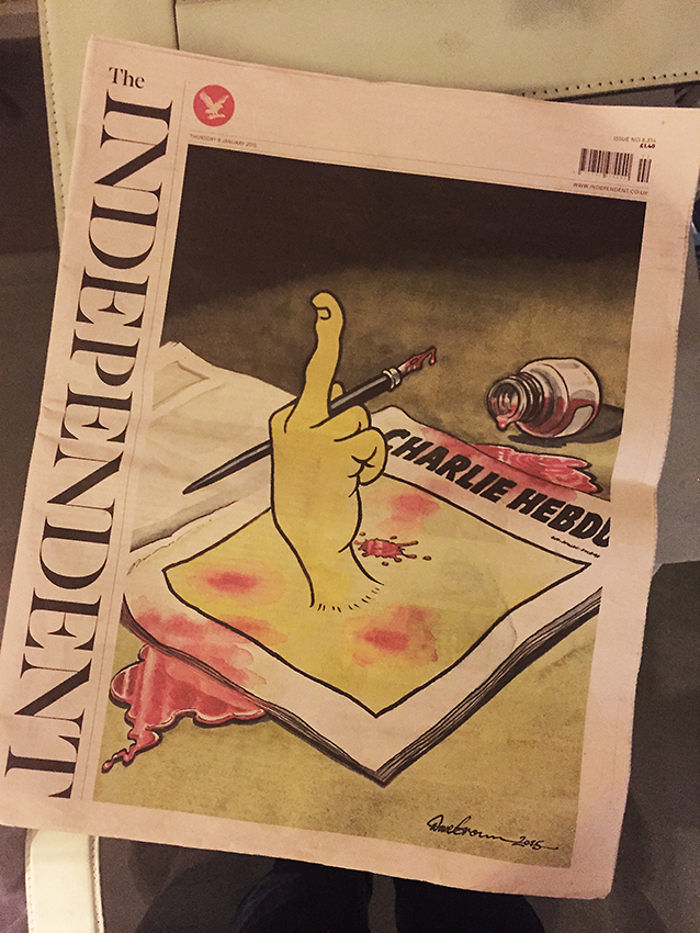 Charlie Hebdo, in the Independent