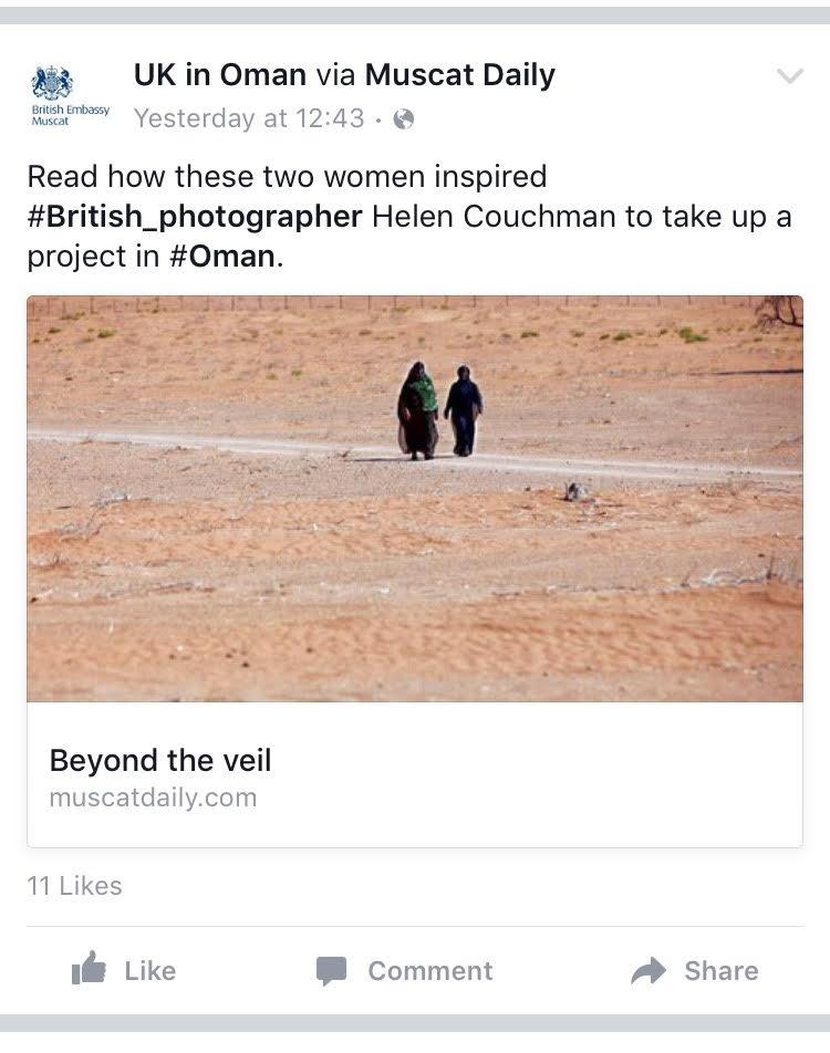 Omani Women - UK Embassy in Oman Facebook announcement