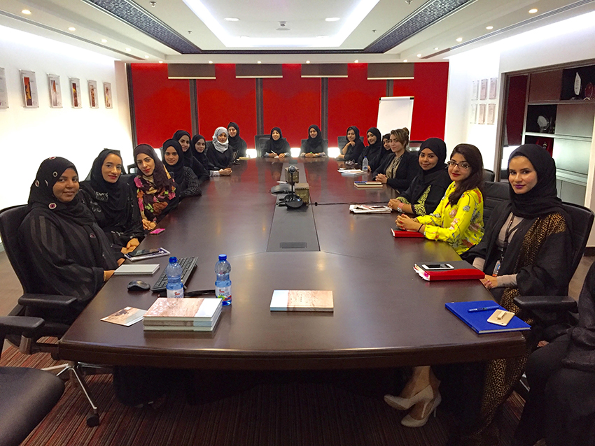 Omani Women project - presenting to female engineers. web