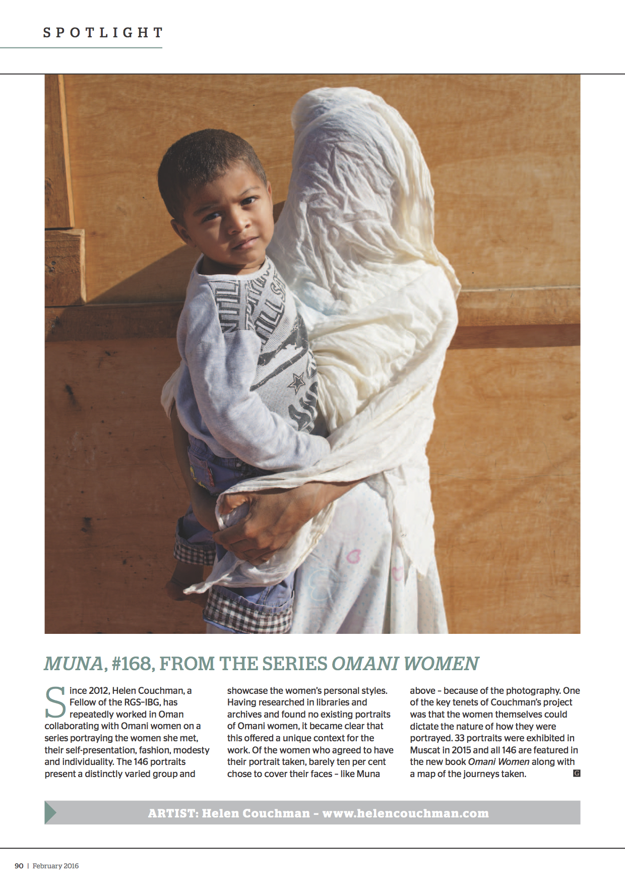 Muna from the Omani Women Series for the Geographical Magazine GE090_FEB16
