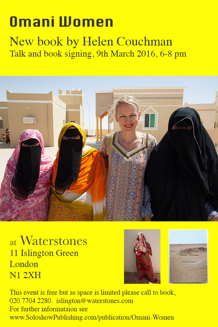 Omani Women. Waterstones book talk and signing. 9 March 2016 40x60 poster for website 2