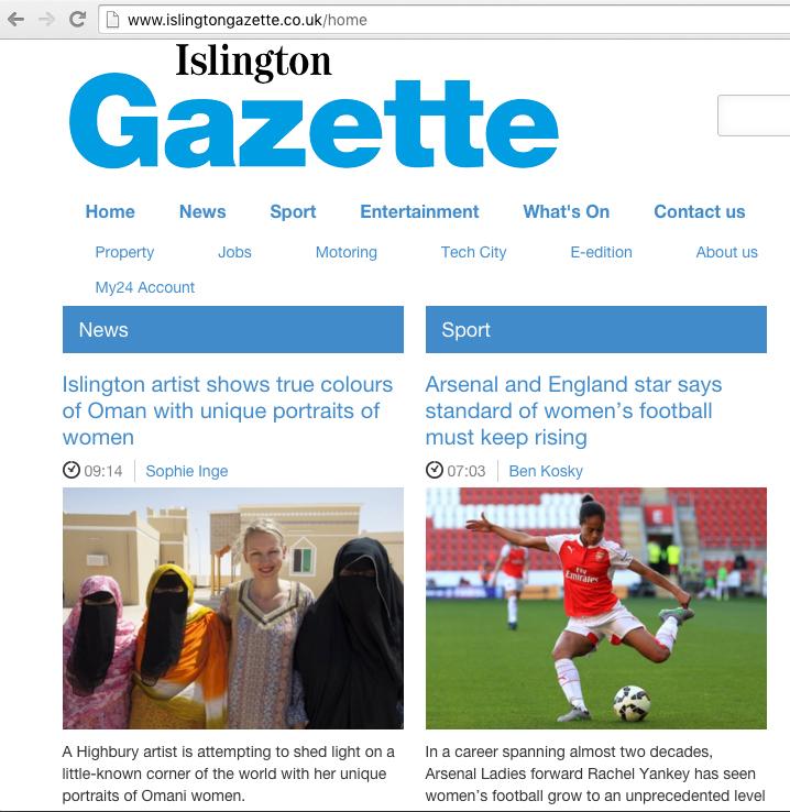 Omani Women - 8th March 2016. Islington Gazette website home page