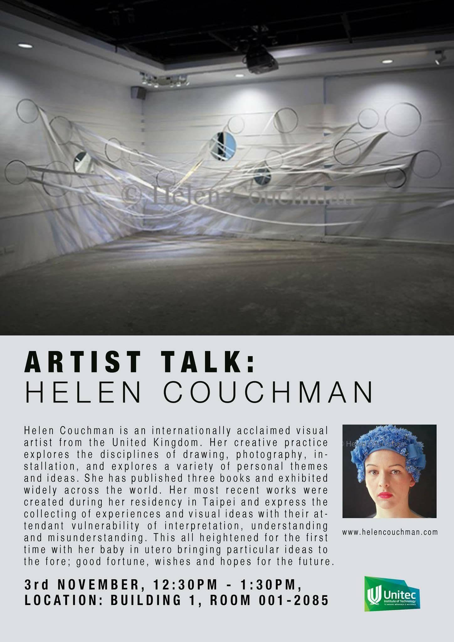 Talk by Helen Couchman at Unitec Institute of Technology, Auckland. 3 November 2016